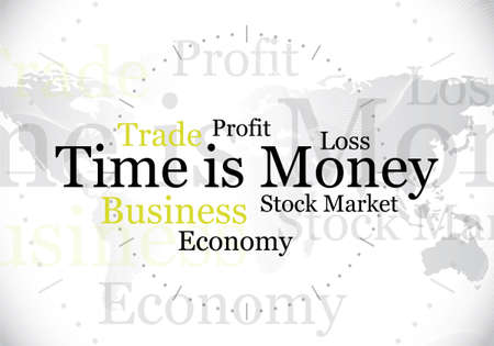 abstract time: abstract time is money design  background