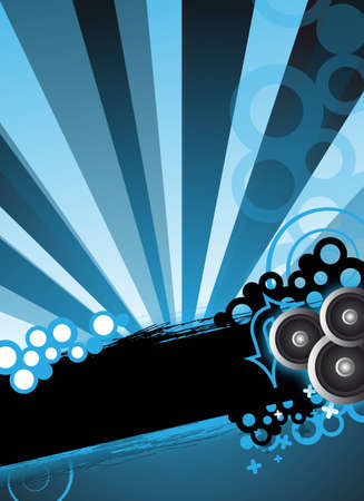 an abstract blue party design concept  background photo