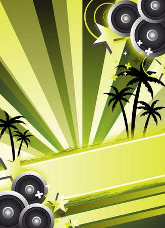 een abstracte groene partij flyer  achtergrond
