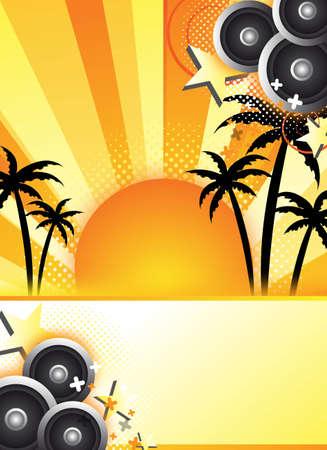 de aankondiging van een abstracte zomer partij voor ontwerp  achtergrond