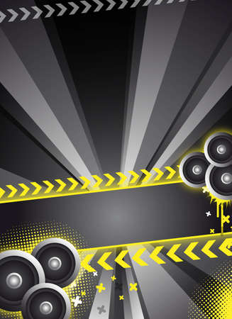abstract black party  event background for design Stock Photo