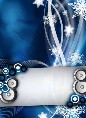 an abstract winter event  party design