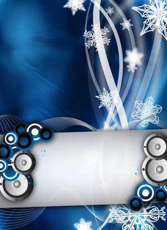 een abstracte winter evenement  feest ontwerp
