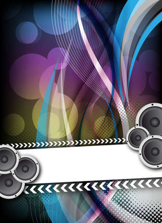 disco speaker: an abstract colorful party design for flyerposter