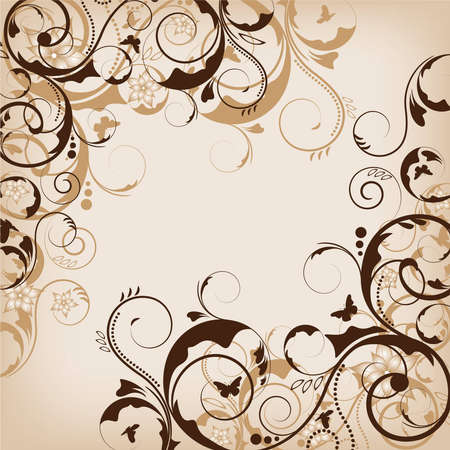 an abstract brown flower design for background Vector