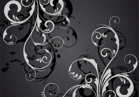 an abstract black vector ornament for design