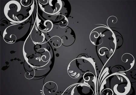 een abstracte zwart vector ornament voor ontwerp