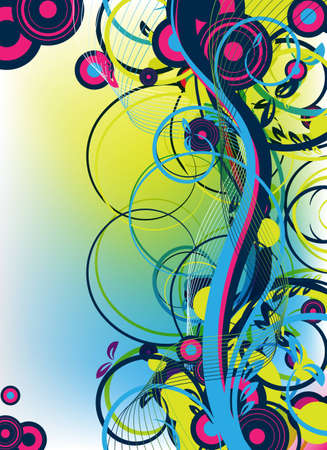 an abstract colorful vector artwork for design photo