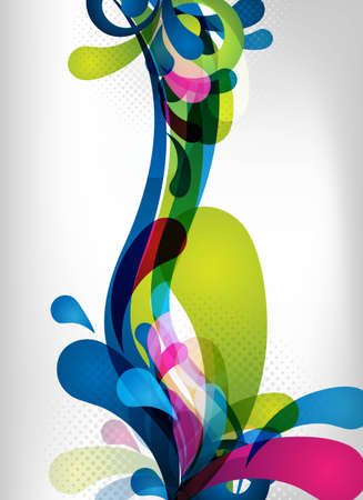 an abstract and colorful vector design for background