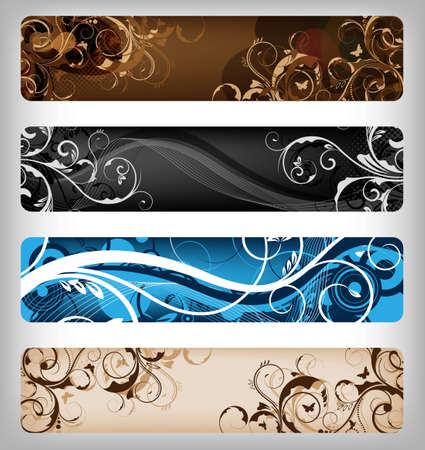 abstract floral designs for banner or background Stock Photo