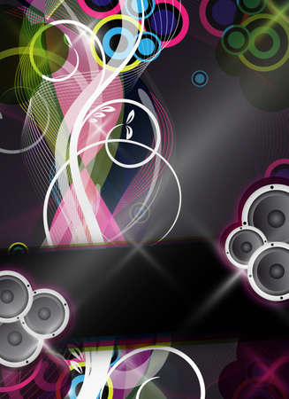 an abstract and colorful event vector design  background