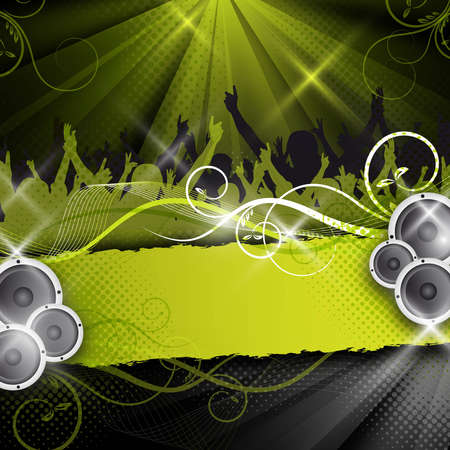 an abstract green vector party  event design