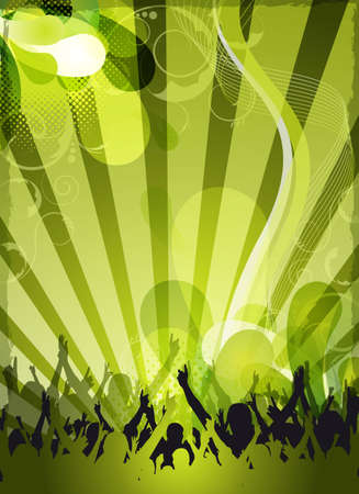 an abstract green party background for event design photo