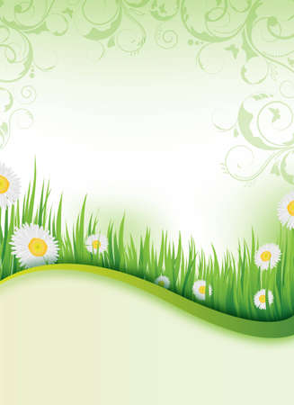 an abstract spring flyer design / background photo