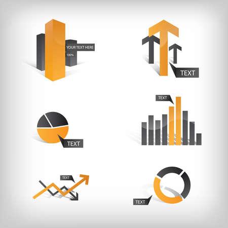 Vector Info grafische iconen en Elements Stock Illustratie