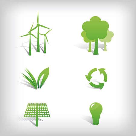 Abstract Milieu Vector iconen en symbolen
