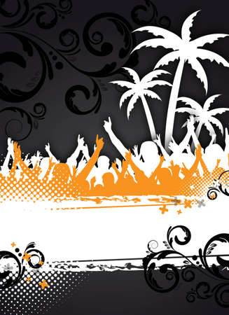 summer party background: an abstract summer party background for design