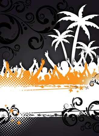 een abstracte zomerfeest achtergrond voor ontwerp Stockfoto