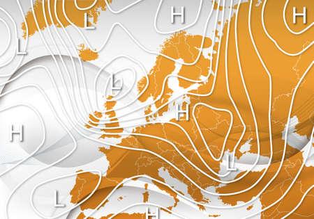 Een weerkaart van Europa