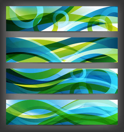 technic: four versions of abstract banners and backgrounds Stock Photo