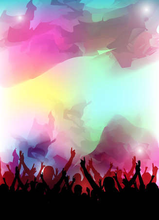 concert crowd: an abstract colorful party background for design Stock Photo