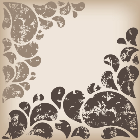 an abstract ornament for design with vintage style photo