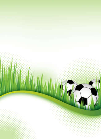 football party: an abstract football flyertemplate for design