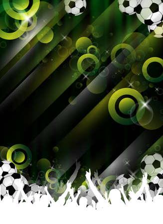 Een abstract voetbal party ontwerp