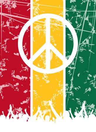reggae: Un fond abstrait reggae parti pour la conception