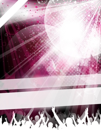an abstract and modern partyevent template for design