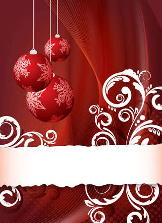 christmas flyer background: red abstract christmas background for design