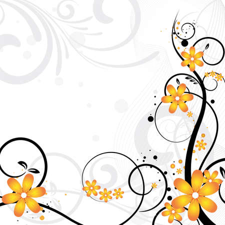 beautiful floral background with flowers for design Stock Photo