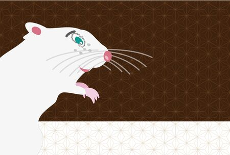 illustration of mouse for the new year card 写真素材