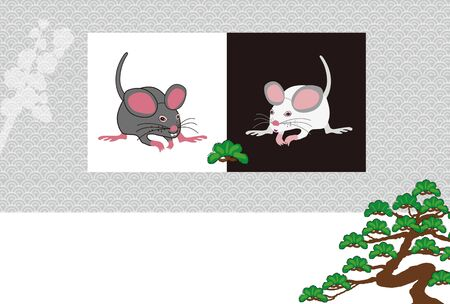 illustration of mouse for year of the rat 写真素材