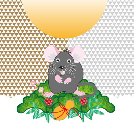 illustration of mouse for the new year card of rat year 写真素材