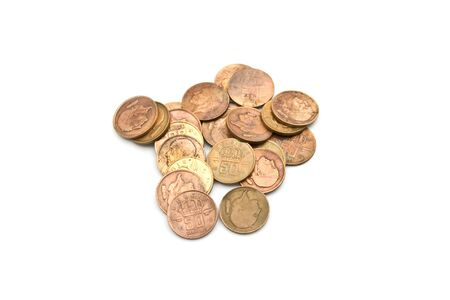 osolated: Old moneycoins shot osolated on white Stock Photo