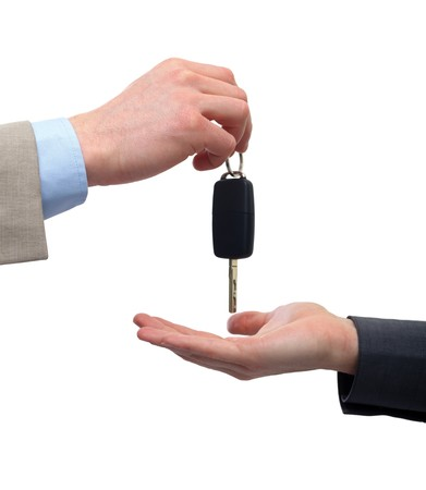 Close up of a male hand  taking car key