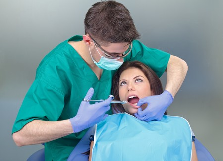 Picture of a dental anesthesia before the treatment Stock Photo