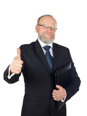good deal: Picture of a confident businessman after a good deal Stock Photo