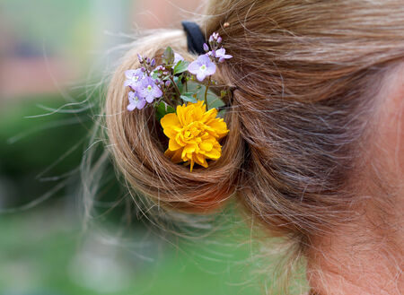 Picture of a beautiful hair decoration outdoor photo