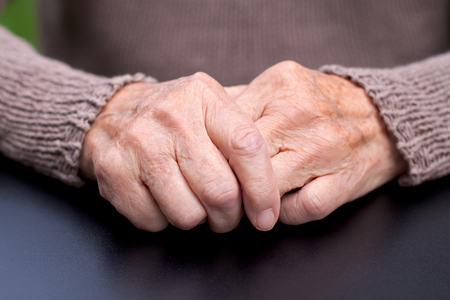 Picture of a wrinkled elderly hand