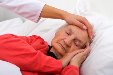 Portrait of a beautiful sleeping elderly lady