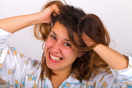 affliction: Picture of a beautiful young frustrated woman