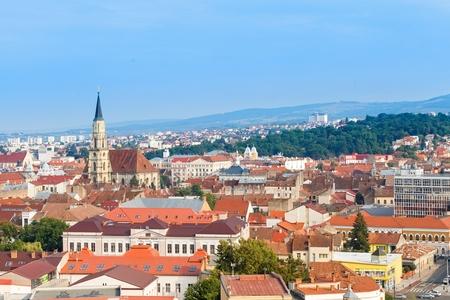 Mooi uitzicht op de stad Cluj Napoca Stockfoto