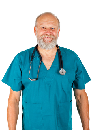 successfull: Picture of a confident doctor standing on an isolated background
