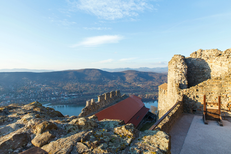 Beautiful view of the city of Visegrad, from the Castle ruins