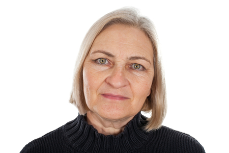 Picture of a beautiful middle aged woman - isolated background