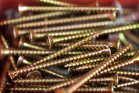 rusty nail: Close up picture of a stack steel nails, construction supplies
