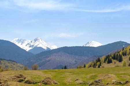 Landscape of the Retezat mountains on Transilvania, Romania