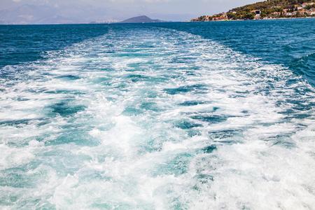 Picture of beautiful blue sea waves in Croatia, Europe
